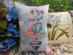 Pillsbury Flour Ad w Ladies Pillow by Maisonvogue on Etsy, $15.00