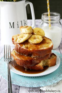 Bananas Foster French Toast / My Friend's Bakery