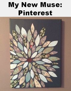 Scrap Paper Wall Art on Canvas - Live and Learn Farm | Live and Learn Farm