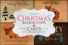 Check out Christmas Background & Cards Vol.2 by Zeppelin Graphics on Creative Market