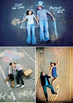 Save the date chalk idea.