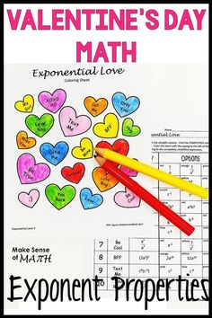 Fun Valentines Day middle school math activity. Students will love this coloring activity as the practice simplifying exponents with exponent properties and exponent rules. Perfect for the 8th grade math and algebra classrooms. Aligned to the common c