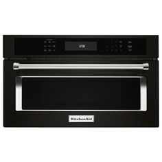 KitchenAid 1.4-cu ft Built-in Convection Microwave with Sensor Cooking Controls (Black Stainless)