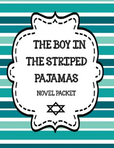 The Boy in the Striped Pajamas Novel Study Print & Paperless - Distance Learning Story Elements Activities, Character Activities, Vocabulary Activities, Boy In Striped Pyjamas, Cause And Effect Activities, Friendship Activities, Text To Text, John Boyne, World Teachers