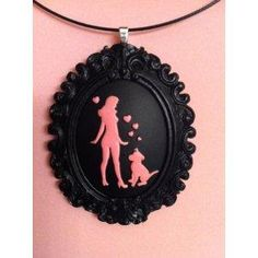 Pinups for Pitbulls Cameo Necklace - Silhouette