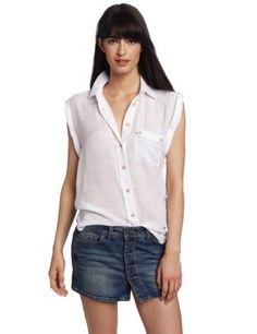Democracy Women's Twisted Short Sleeve Button Front Shirt Democracy. $54.00. Wooden button detail. Machine Wash. 65% Rayon/35% Polyester. Made in China. Tie front