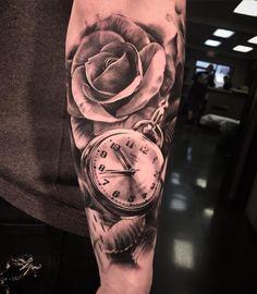 pocket watch tattoo75