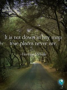 It is not down in any map; true places never are.
