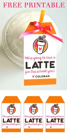 """We're Going to Have """"A LATTE FUN"""" this Year Teacher Gift 