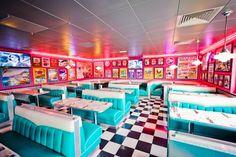 American snack-vintage-tommys-diner in France.