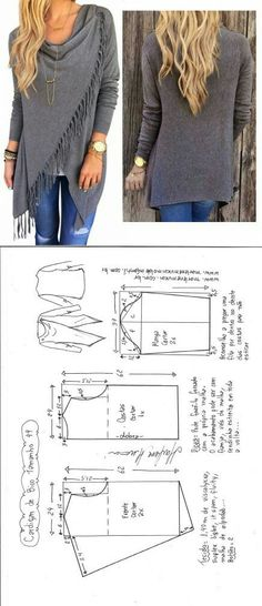 Blusa com detalhe em Renda – DIY – molde, corte e costura – Marlene Mukai Sewing Patterns Free, Sewing Tutorials, Clothing Patterns, Dress Patterns, Free Pattern, Knitting Patterns, Sewing Tips, Diy Clothing, Sewing Clothes