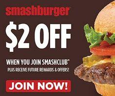SMASHBURGER $$ Coupon to Save $2 off $5 Purchase!