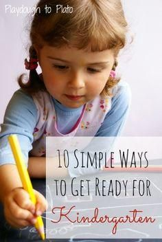 Free printable checklist of 10 simple ways to prep kids for Kindergarten