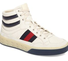 Gucci Italian Sneakers, Fresh Kicks, Leather High Tops, High Top Sneakers, Gucci, Nordstrom, Sporty, Men, Shoes