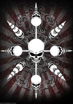 Circus Skulls by Oblivion-design.deviantart.com on @deviantART
