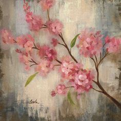 drawings of cherry blossom | Pink Cherry Blossom II by Silvia Vassileva Flower Floral Art Print ...