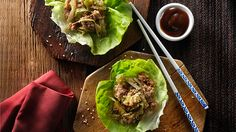 Chinese Chicken Lettuce Wraps Chicken Hoisin Sauce, Sauce Hoisin, Appetizer Dips, Appetizer Recipes, Dinner Recipes, Asian Recipes, Healthy Recipes, Ethnic Recipes, Savoury Recipes