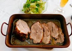 Schweinsbraten in Scheiben Austrian Recipes, Steak, Pork, Food And Drink, Keto, Regional, Cooking, Inspiration, Meat