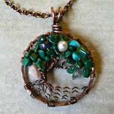 Dye Antique Copper Family Tree of Life Pendant  | DesignsinCopper - Jewelry on ArtFire