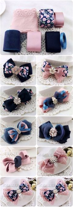 Discover thousands of images about cute DIY bow tutorial Diy Hair Bows, Diy Bow, Diy Ribbon, Ribbon Crafts, Ribbon Bows, Ribbons, Diy Crafts, Diy Headband, Baby Headbands