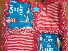 Rag quilt Diaper bag/ purse Dr. Seuss Cat in the Hat (Insulated for hot or cold)