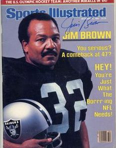 Jim Brown almost made a return to football with the Raiders back in 81 Oakland Raiders Football, Nfl Football Players, American Football Players, Raiders Fans, Raiders Players, Raiders Stuff, Football Posters, Raiders Girl, Football Memorabilia