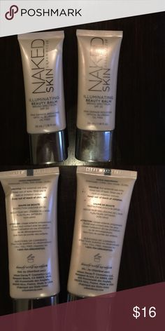 UD naked Skin illuminating beauty balm spf 20 Get that gorgeous glow with this light weight Naked Skin by UD illuminating beauty balm spf 20. I have 2 tubes each are 1.18fl oz barely used price is for 1 each sold separately Urban Decay Makeup Luminizer