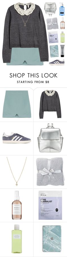 """""""ITS MY BIRTHDAY!!"""" by nxstalgia ❤ liked on Polyvore featuring H&M, adidas Originals, Kin by John Lewis, Laura Lee Jewellery, Barefoot Dreams, Herbivore, Crabtree & Evelyn and Stila"""