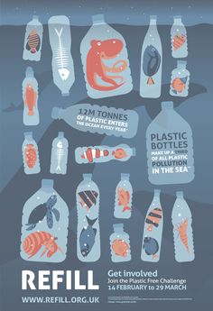 water campaign We designed this poster to promote the amazing work of Refill Bristol and encourage people to give up plastic bottles and more for the Plastic Free Challenge 14 February 29 March! Share far and wide and help combat plastic pollution.