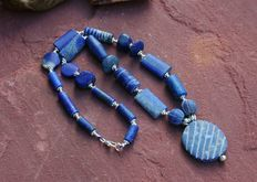 Necklace of real lapis lazuli