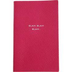 Smythson Blah, Blah, Blah Notebook at Barneys.com