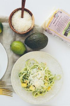 Raw Coconut-Mango Zucchini Noodles with Cashews from @Inspiralized