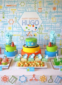 Professor Hugo's Science Themed 8th Birthday Party by Crackers Art