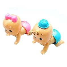 1pc Children Kid Funny Plastic Crawling Baby Doll Clockwork Wind Up Toy Gift