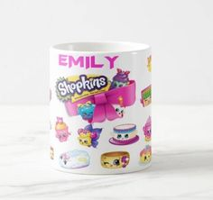 Shopkins Mug, Shopkins season 7 mug,  personalised 11oz ceramic, shopkins gift, shopkins 7 mug, shopkins season 7, shopkins personalised by ANYSIZEPRINTED on Etsy