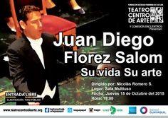 """""""Juan Diego Florez Salom su vida su arte"""" 15 Octubre"""