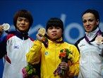 Kazakhstan's Zulfiya Chinshanlo takes gold in the Women's 53kg competition