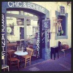 Chic & Bohème Montpellier : Brocante et resto. Quartier Beaux Arts http://www.chic-boheme.com/ J'adore!