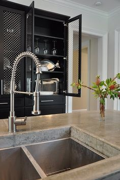 concrete counter tops look amazing *but, unless treated properly before installation, are way too porous and stain badly=(