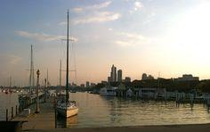 Sailboat sitting on Lake Michigan | photo by Allison Lerner