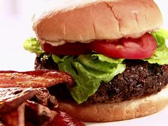 Black Bean Burgers recipe from Sandra Lee via Food Network