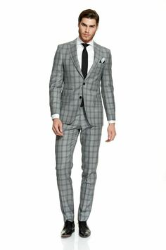 Godwin Charli: Laurent Pure Wool Suit Hawksbury Grey