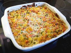 Low carb Rezepte: Blitzschneller Gemüse - Quark - Auflauf