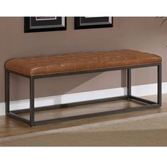Brown Leather Directors Bench | Mountain House | Pinterest | Brown Leather,  Bench And Iron