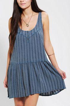 Ecote Drop-Waist Tank Dress