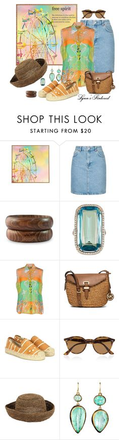 """Define It 2 -  #4012"" by lynnspinterest ❤ liked on Polyvore featuring DENY Designs, Topshop, NOVICA, Paolo Costagli, Emilio Pucci, MICHAEL Michael Kors, Soludos, Ray-Ban and Judy Geib"