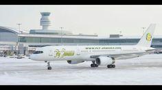 Fly Jamaica Boeing 757 preparing to leave Toronto's Pearson international, bound for Kingston, Jamaica. Aircraft, Kingston Jamaica, Vehicles, Aviation, Plane, Airplanes, Planes, Airplane, Vehicle