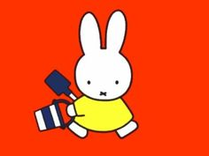 Miffy is leaving and taking her things. Her friends will be back to pick up the rest.