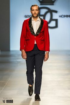 Goose Homme Prorsum look 12 at Mercedes Benz Cape Town Fashion Week SS15