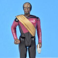Lt. Worf Star Trek the Next Generation 1988 No Tricoder analyzer Approximately 3.75 inches tall